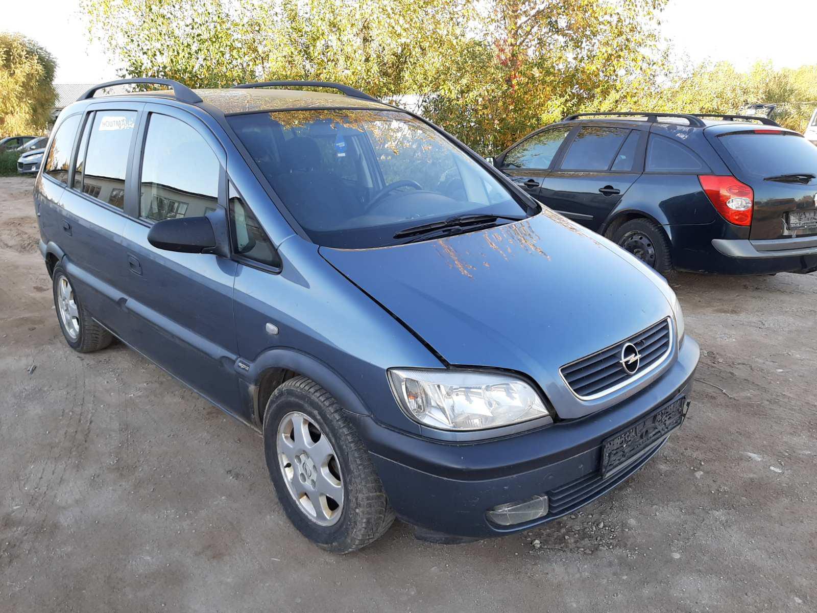 Naudotos automobilio dalys Opel ZAFIRA 2001 2.0 Mechaninė Vienatūris 4/5 d. Melyna 2021-10-01