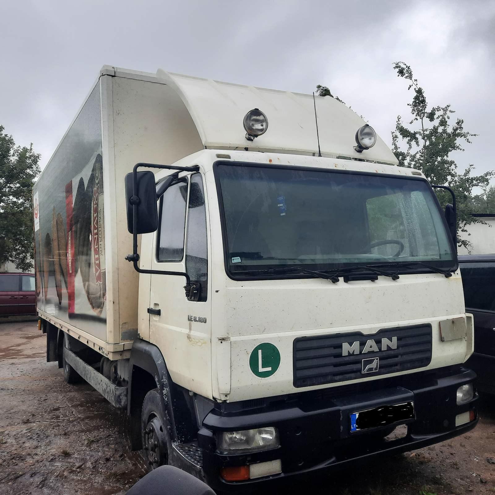 Naudotos automobilio dalys Truck - MAN LE8.180 2005 4.5 Mechaninė Sunkvezimis 2/3 d. Balta 2021-8-02