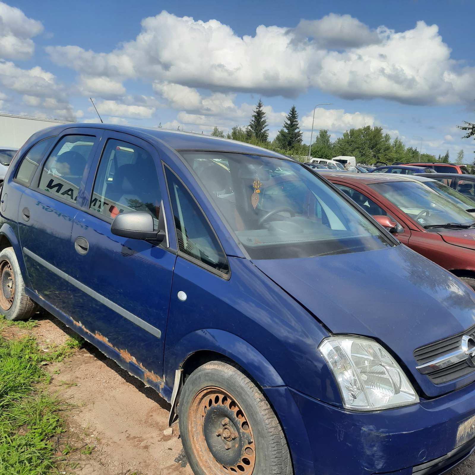 Naudotos automobilio dalys Opel MERIVA 2004 1.6 Mechaninė Vienatūris 4/5 d. Melyna 2021-8-24