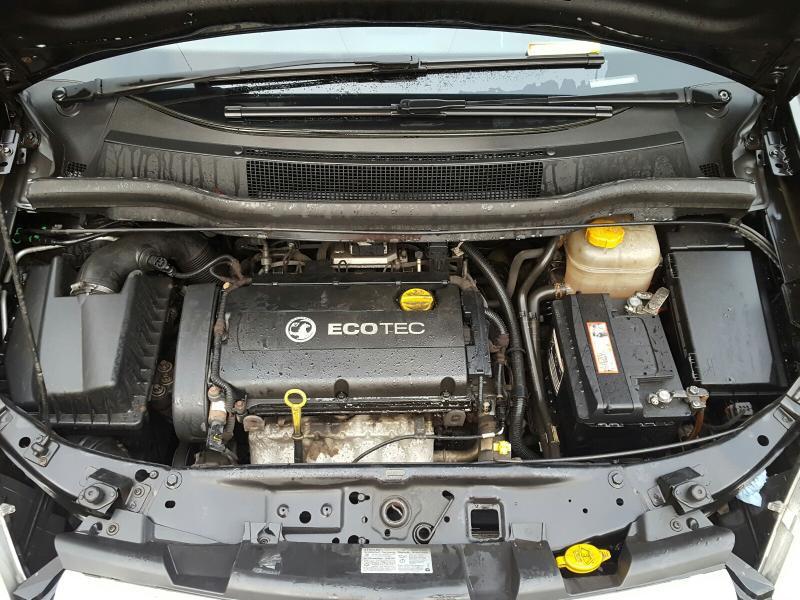Naudotos automobilio dalys Opel ZAFIRA 2010 1.8 Mechaninė Vienatūris 4/5 d. Juoda 2021-1-08
