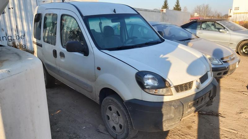 Naudotos automobilio dalys Renault KANGOO 2005 1.6 Mechaninė Komercinis 2/3 d. Balta 2020-12-10