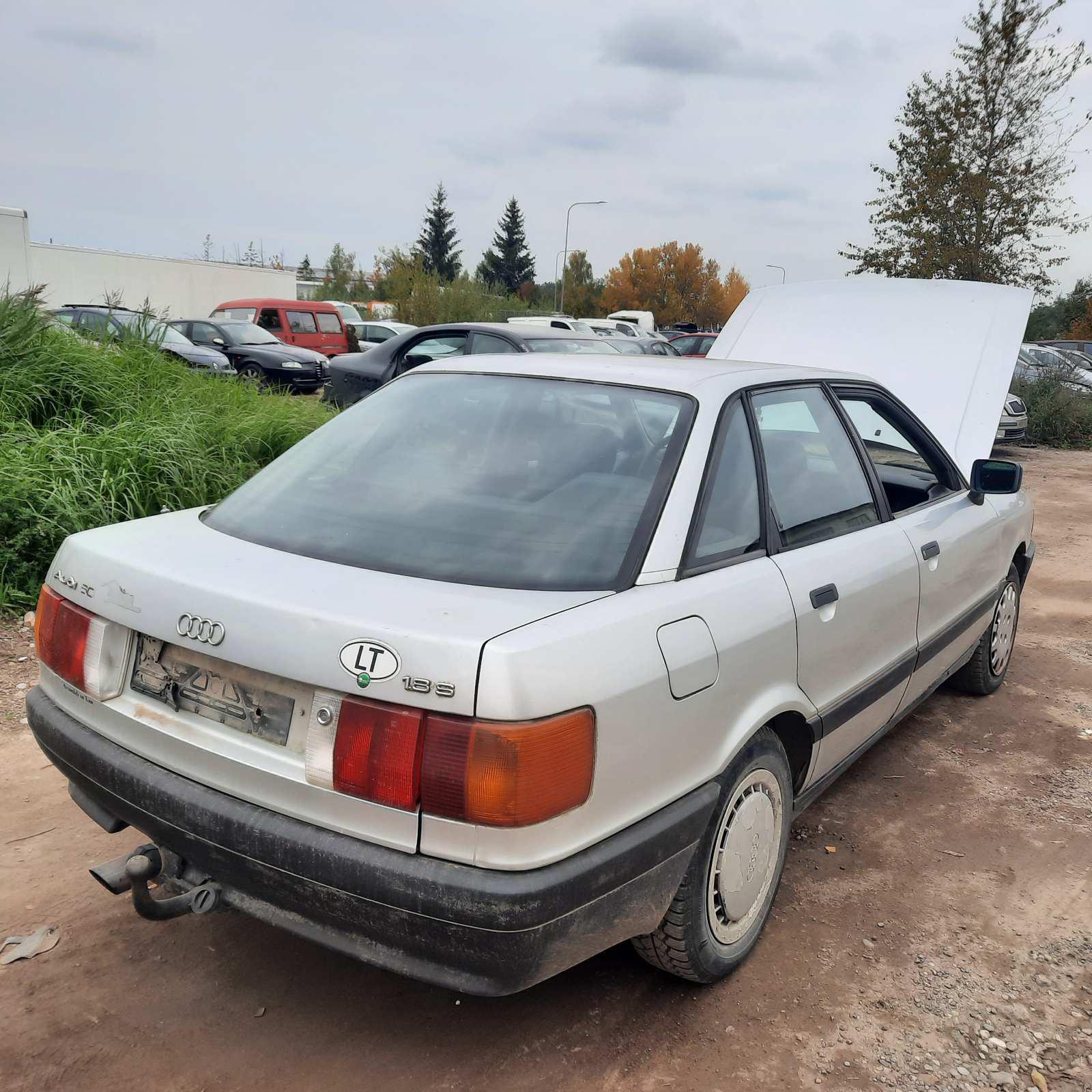 Naudotos automobiliu dallys Foto 4 Audi 80 1989 1.8 Mechaninė Sedanas 4/5 d. Pilka 2021-10-01 A6700