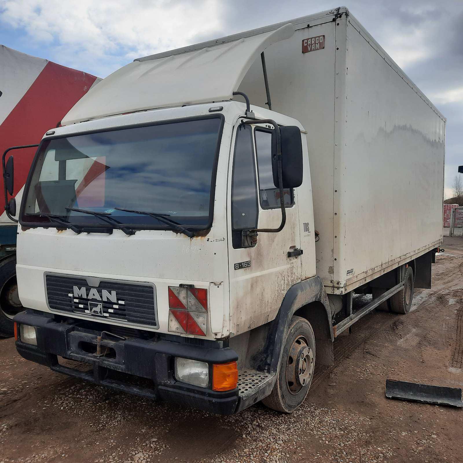 Naudotos automobiliu dallys Foto 2 Truck - MAN 8.163 1998 4.6 Mechaninė Sunkvezimis 2/3 d. Balta 2021-3-29 A6127