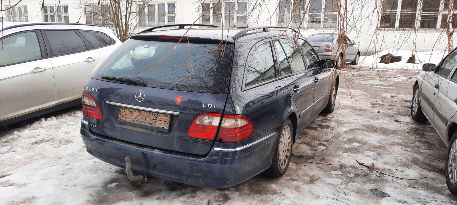 Naudotos automobiliu dallys Foto 8 Mercedes-Benz E-CLASS 2004 2.2 Mechaninė Universalas 4/5 d. Melyna 2021-2-23 A6064