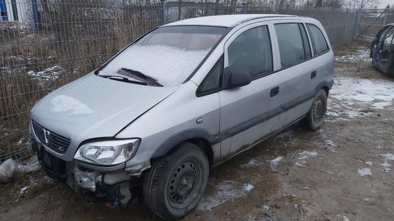 Naudotos automobilio dalys Opel ZAFIRA 2001 1.8 Automatinė Vienatūris 4/5 d. Sidabrine 2021-1-05