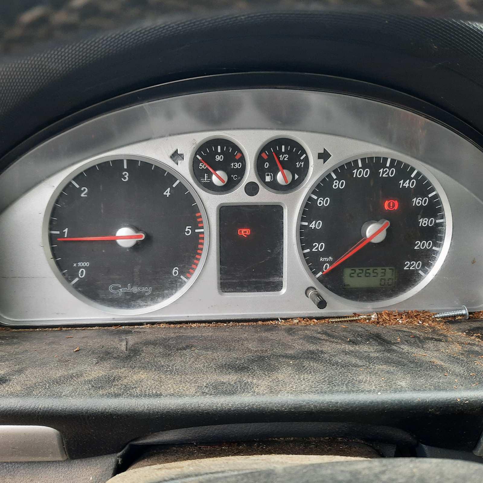 Naudotos automobilio dalys Ford GALAXY 2001 1.9 Mechaninė Vienatūris 4/5 d. Melyna 2021-9-13