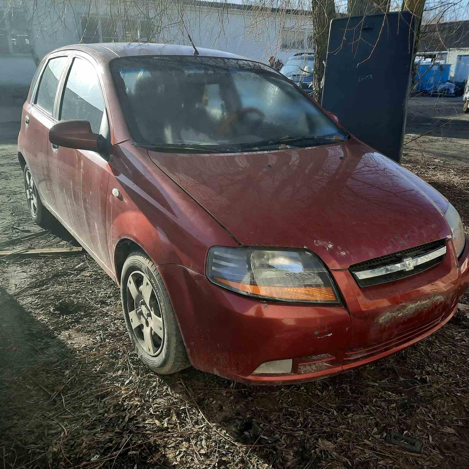 Naudotos automobilio dalys Chevrolet KALOS 2006 1.2 Mechaninė Hečbekas 4/5 d. Raudona 2021-3-29