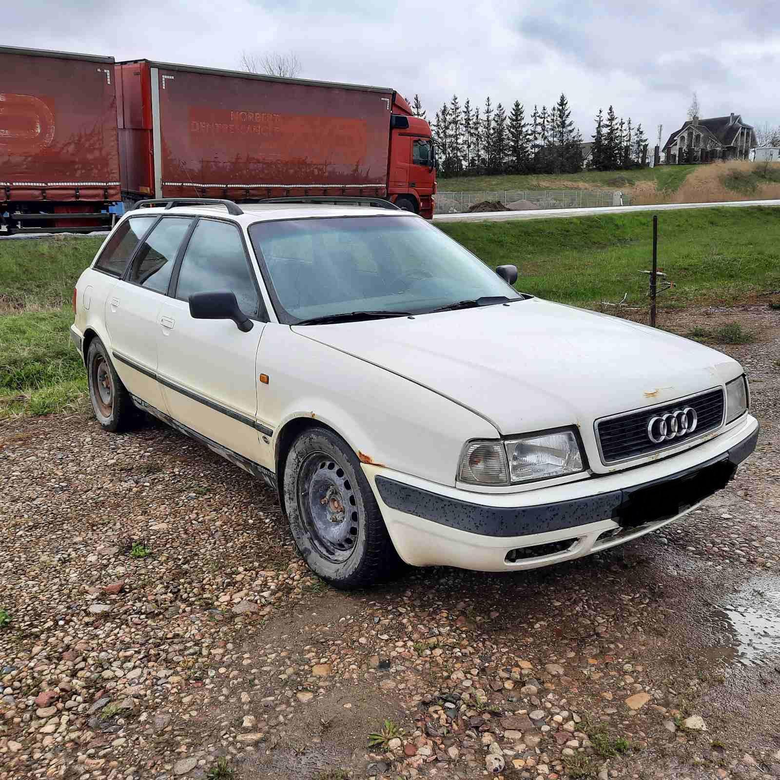 Naudotos automobilio dalys Audi 80 1993 1.9 Mechaninė Universalas 4/5 d. Balta 2021-5-06