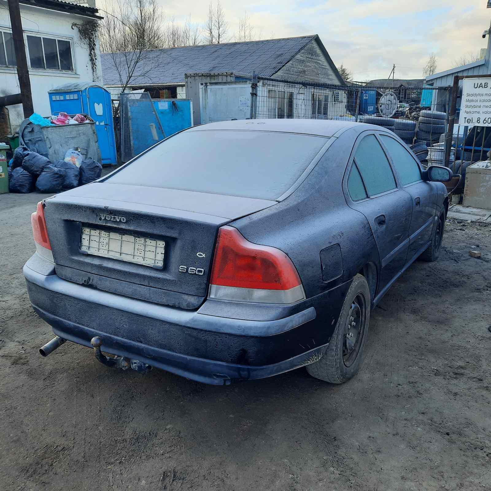 Подержанные Автозапчасти Volvo S60 2002 2.4 машиностроение седан 4/5 d. черный 2021-3-05