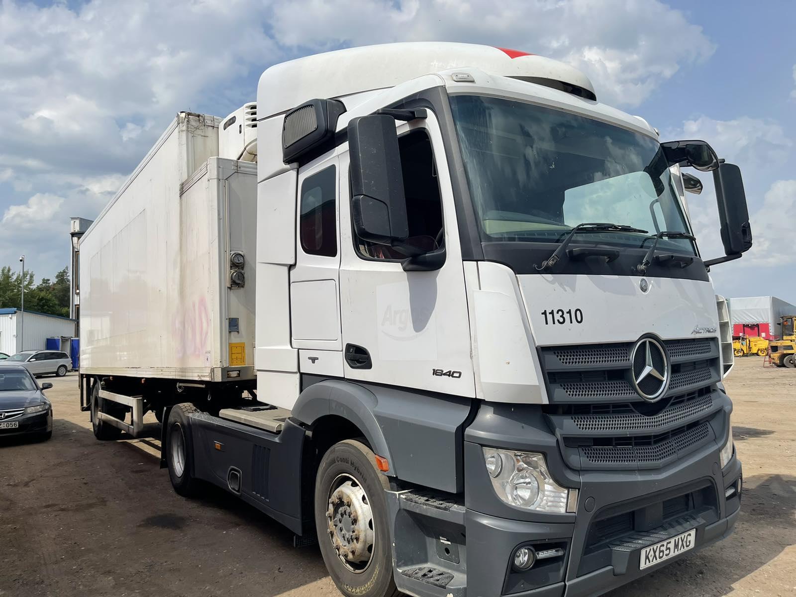 Naudotos automobilio dalys Truck - Mercedes-Benz ACTROS 2015 10.6 Automatinė Vilkikas 2/3 d. Balta 2021-7-08