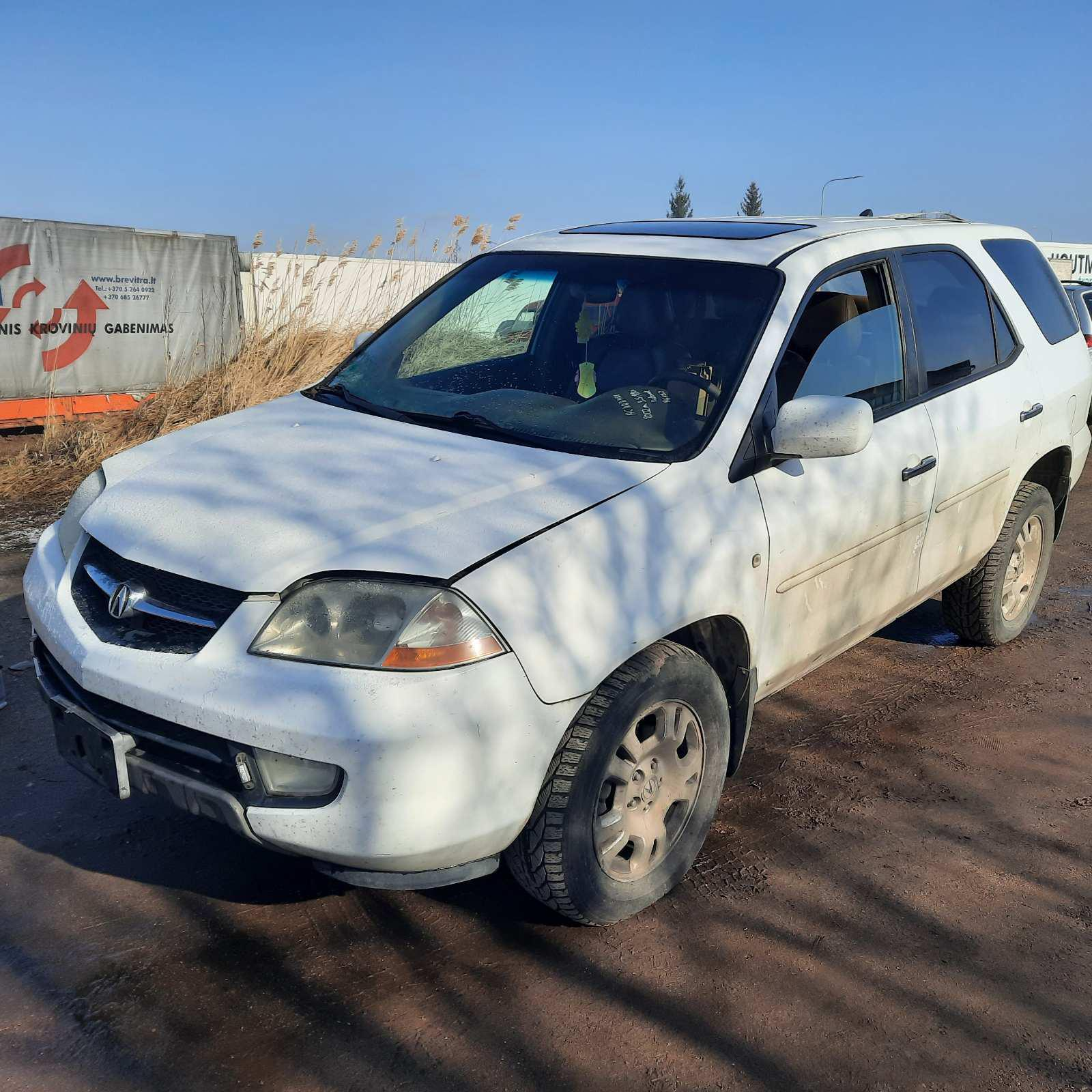 Used Car Parts Foto 3 Acura MDX 2002 3.5 Automatic Jeep 4/5 d. white 2021-4-07 A6132