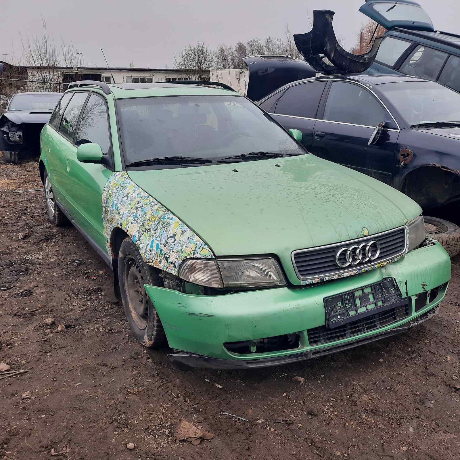 Naudotos automobilio dalys Audi A4 1997 1.9 Automatinė Universalas 4/5 d. Zalia 2021-4-01