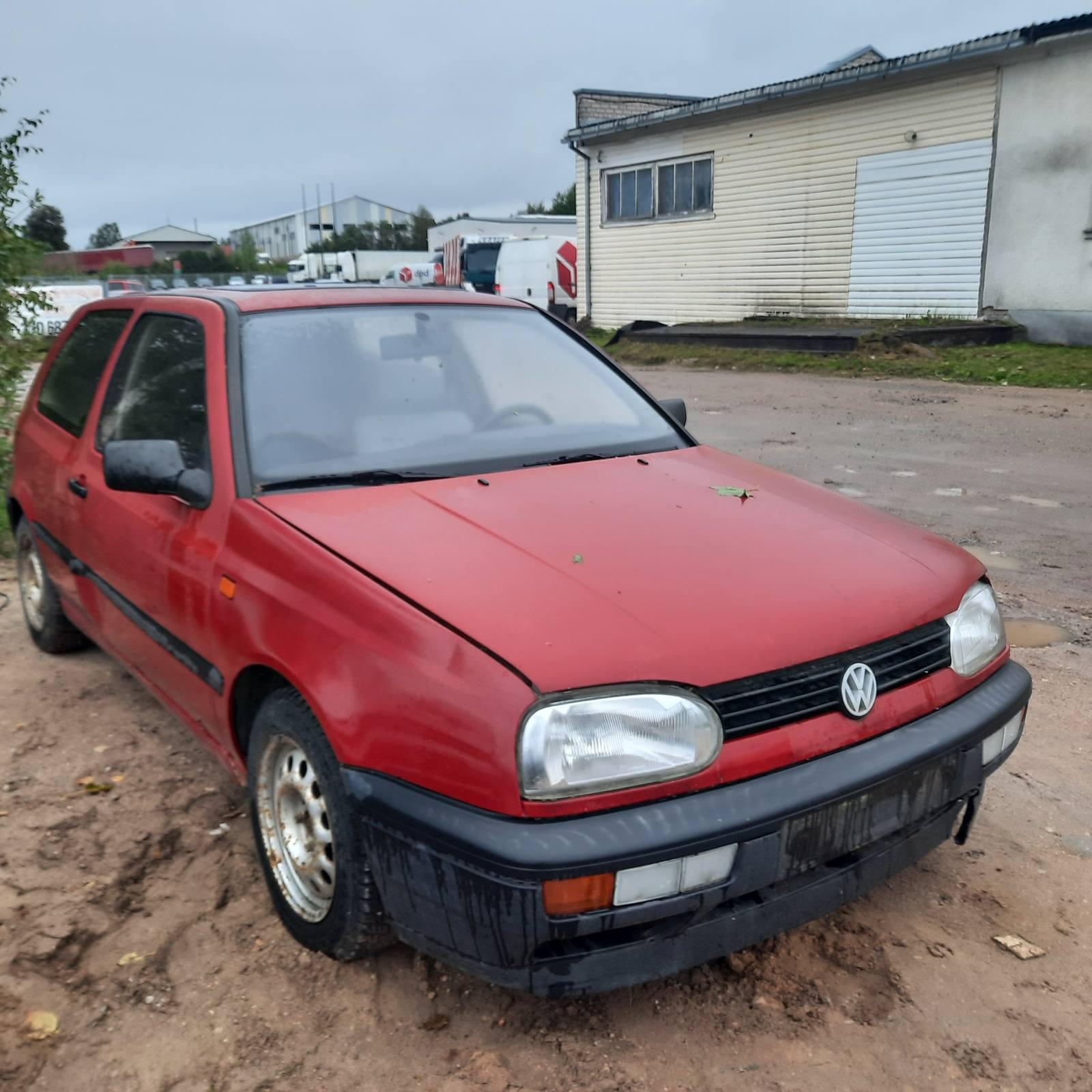 Naudotos automobilio dalys Volkswagen GOLF 1992 1.9 Mechaninė Hečbekas 2/3 d. Raudona 2021-9-20
