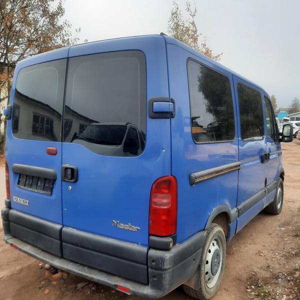Naudotos automobiliu dallys Foto 4 Renault MASTER 2002 2.2 Mechaninė Krovininis mikroautobusas 2/3 d. Melyna 2021-10-14 A6744