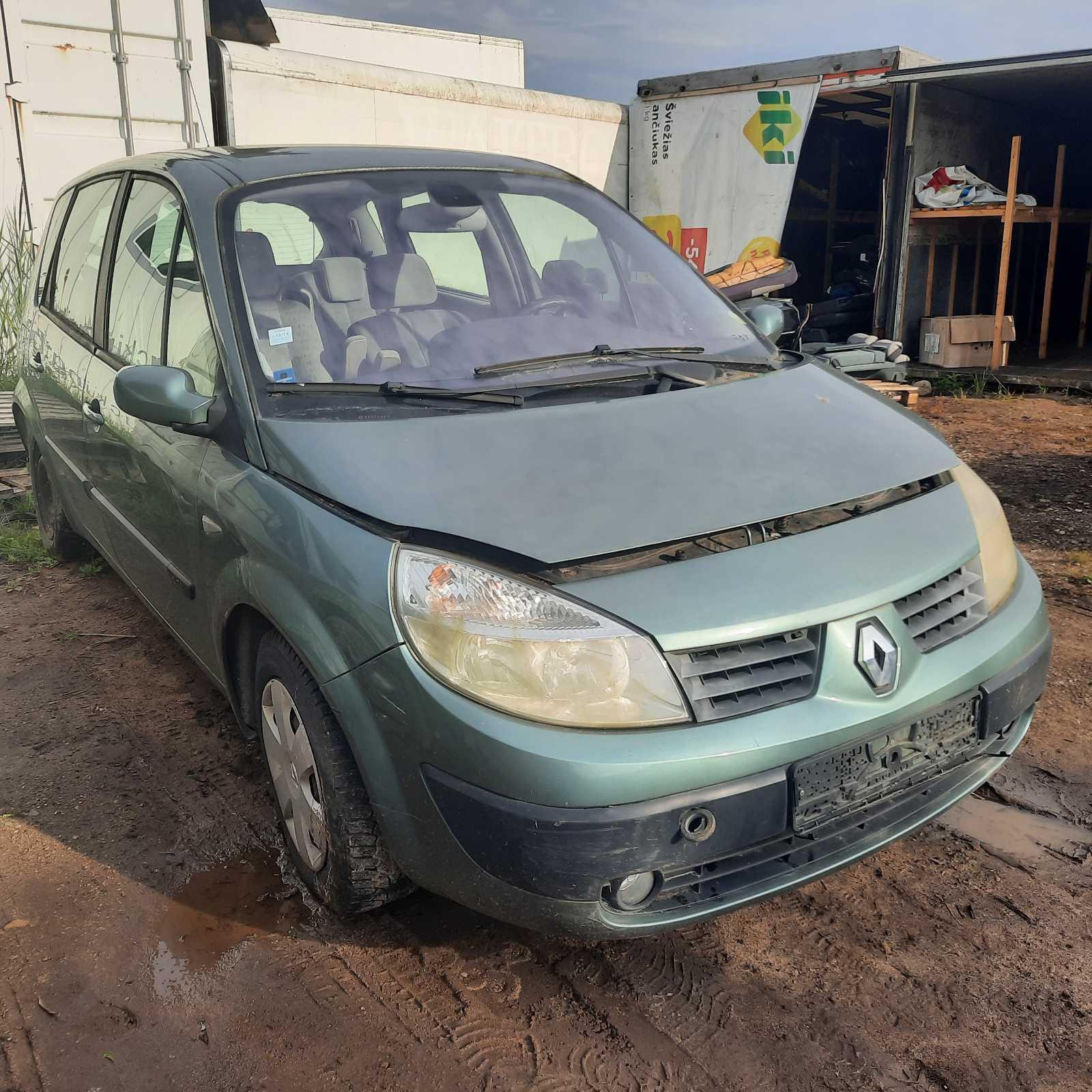 Naudotos automobilio dalys Renault SCENIC 2004 1.5 Mechaninė Vienatūris 4/5 d. Zalia 2021-8-09