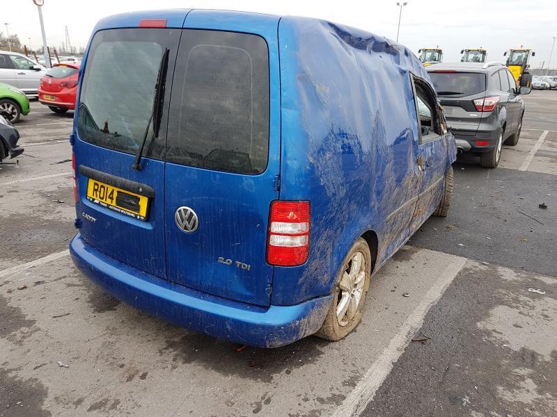 Подержанные Автозапчасти Foto 3 Volkswagen CADDY 2014 2.0 машиностроение коммерческая 2/3 d. синий 2021-1-12 A6024