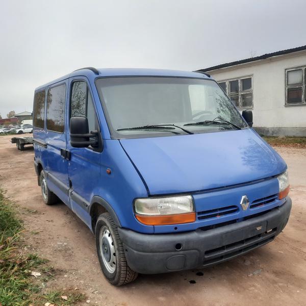 Naudotos automobilio dalys Renault MASTER 2002 2.2 Mechaninė Krovininis mikroautobusas 2/3 d. Melyna 2021-10-14