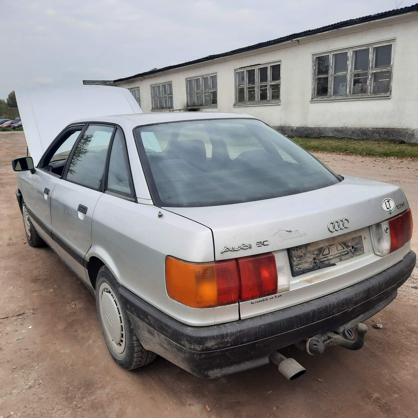 Naudotos automobiliu dallys Foto 5 Audi 80 1989 1.8 Mechaninė Sedanas 4/5 d. Pilka 2021-10-01 A6700
